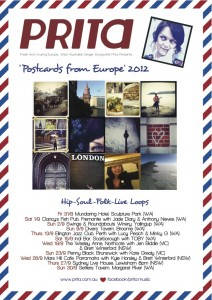 'Postcards from Europe' 2012 Australian Tour Dates