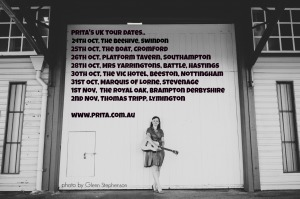 Uk Tour dates poster Oct