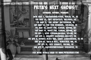 Prita Shows March, April 2016 Banner